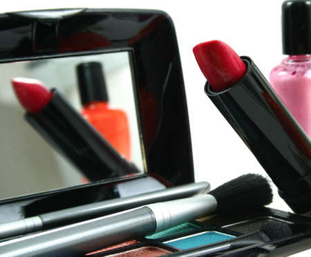 Assortment of womens cosmetics as sample for my beauty and fashion images  Stock Photo