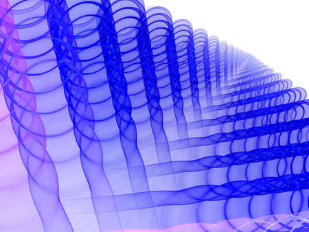 blue elegant fractal background