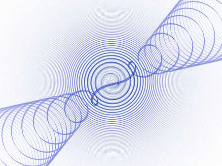 blue sound waves as fractal illustration