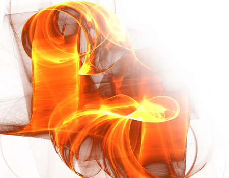 fire waves - abstract fractal