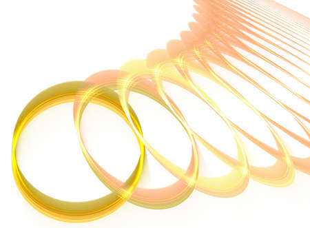 fractal wedding rings Stock Photo