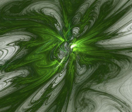 Green fractal background Stock Photo