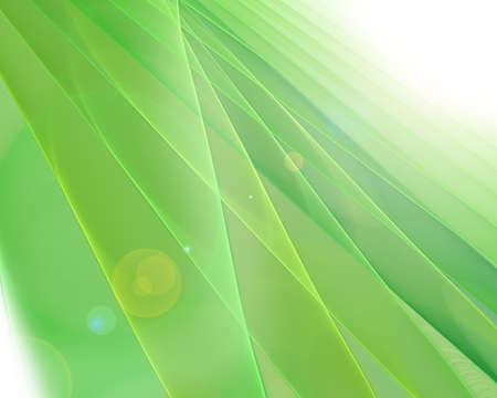 green futuristic fractal background Stock Photo