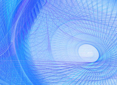 other blue fractal background Stock Photo