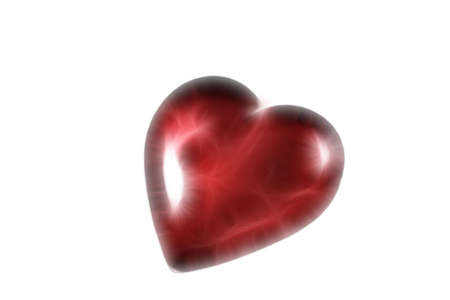3d heart on white background