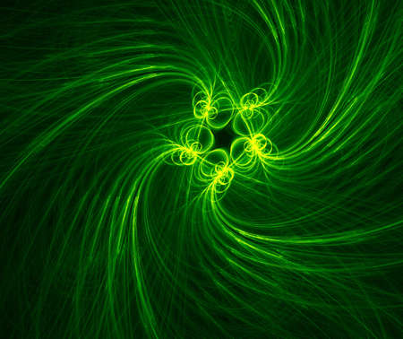 green flower illustration fractal illustration