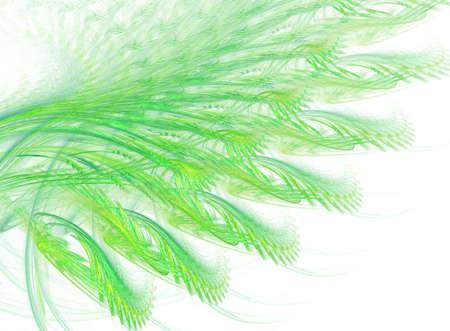 green illustration on white