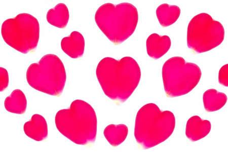 rose-petals hearts illustration Stock Photo