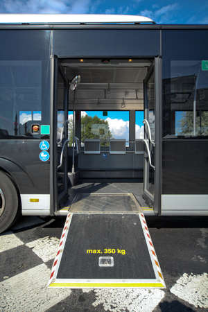 disable: Disable ramp on bus Stock Photo
