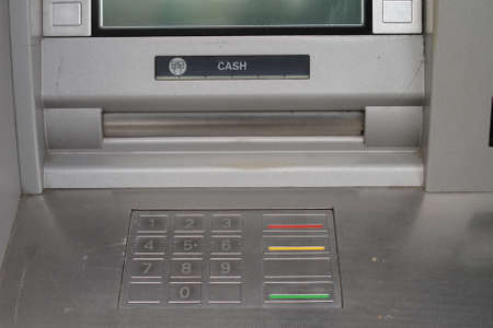 Cash machine keypad photo