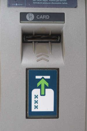 bancomat: Cash machine card slot