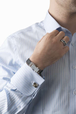 Business man with shirt and jewellery photo