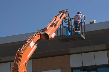 lifter: Painer worker on lifter