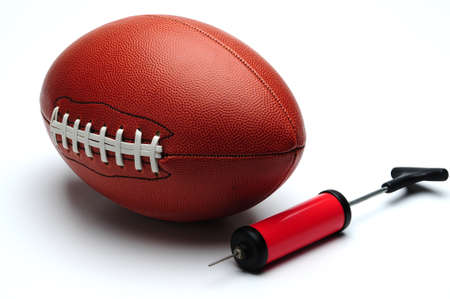 bicycle pump: American football and pump