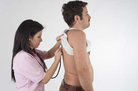 auscultation: nurse auscultation