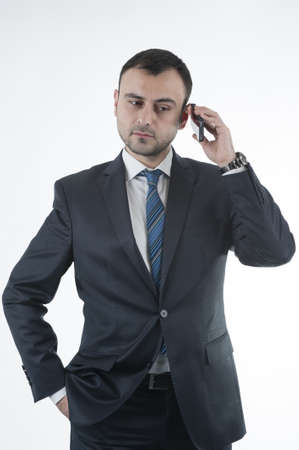 bussinessman: Bussinessman on phone Stock Photo