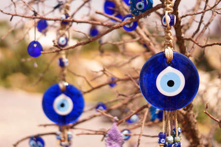 Evil eye bad on tree