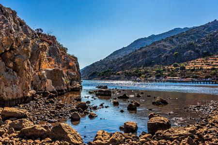 Protected natural harbour of Serce Limani, Bozburun Peninsula, Marmaris Area, Mugla, Turkey