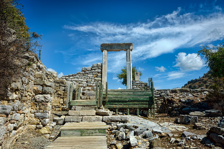 Remains of a lonely gate in a antique city Archivio Fotografico