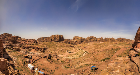 Panoramic view of Wadi Musa from Petra
