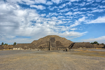 The Temple of the Moon in the ancient city Teotihuacan Mexico Stock Photo