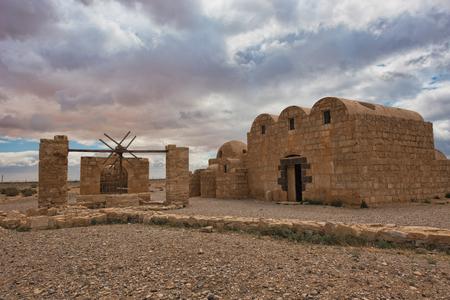 Remains of Qasr Amra a desert castle in eastern Jordan