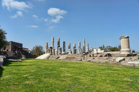 The ionic temple in Smintheion, an Apollo sanctuary in northwestern Turkey Stockfoto
