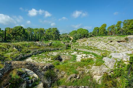 Roman Amphitheater, Syracuse, Sicily, Italy