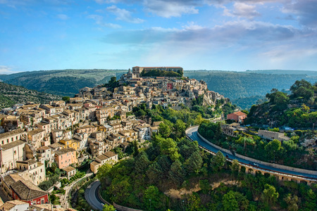 Panoramic View of Ragusa, Sicily, Italy