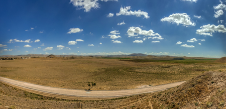 Panoramic View from Gordium, capital city of ancient Phrygia, located at the site of modern Yass�h�y�k, southwest of Ankara, in the immediate vicinity of Polatl� district, Turkey