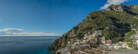 Panoramic View of Positano, Amalfi Coast (Costiera Amalfitana), Campania, Italy