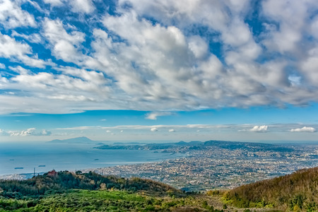 Panoramic view of southern Nepal's area from Mount Vesuvius