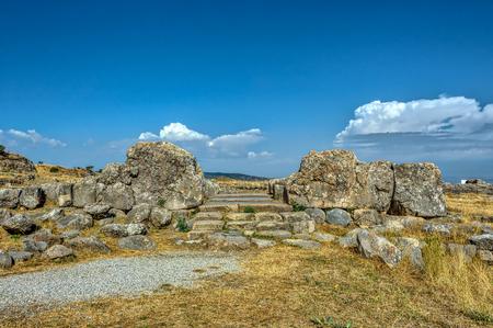 Hattusa, the capital of the Hittite Empire in late Bronze Age. Its ruins lie near modern Bogazkale, Turkey, within the great loop of the K�z�l�rmak River, UNESCO World Heritage list Reklamní fotografie