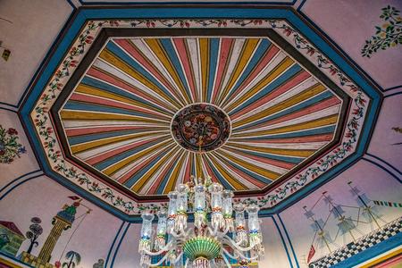 Architectural ceiling details of an ancient Anatolian house Reklamní fotografie
