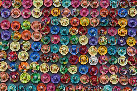 Colorful Sombrero magnet souvenirs, Yucatan, Mexico