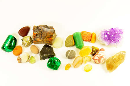 loose: the semiprecious minerals loose isolated Stock Photo