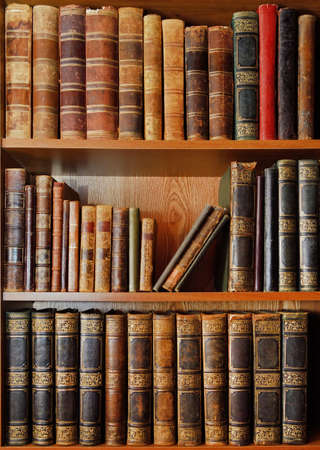 Shelves with antique books in old library Stock Photo - 70854541