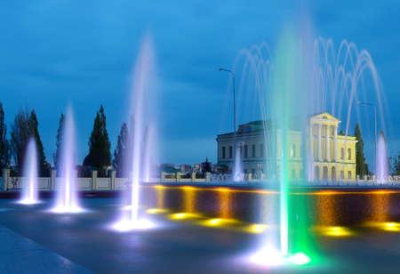 jet stream: jet fountain on a summer evening