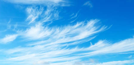 Blue sky with a light cirrus clouds Stock Photo