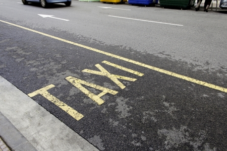 discontinuous: Stop taxi, public service transport, business and finance