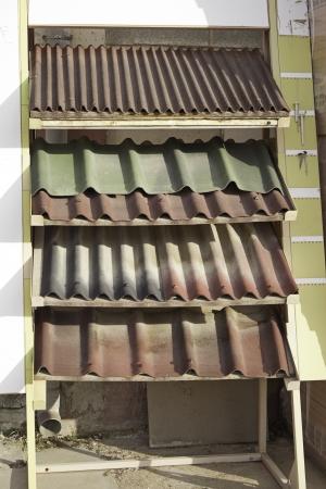 expositor: Texas en el expositor de la construcci�n, techos y tejados de la empresa Foto de archivo