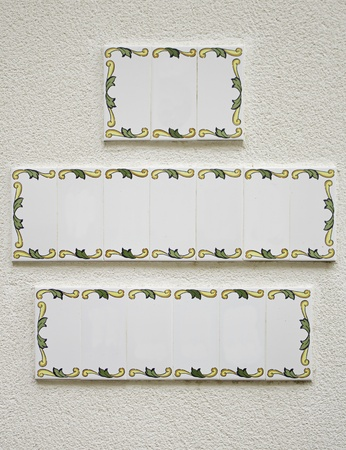 Wall tiles with space for text, ancient decoration Stock Photo - 16474885