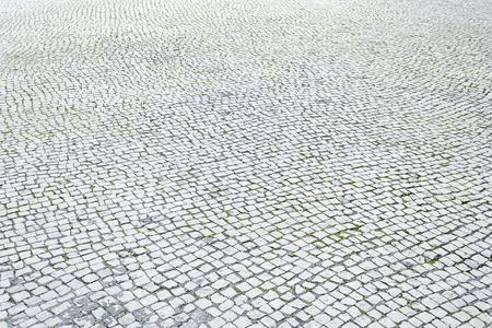 Vloertegels in stedelijke stad straat, bouw en architectuur Stockfoto