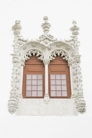 Arab Window in old castle, construction and history photo