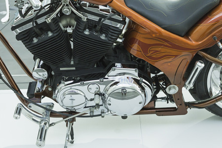 Motor bike customized vehicles on display Banque d'images