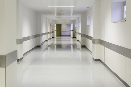 Empty hospital hall with white walls, medicine Stock Photo - 29813962