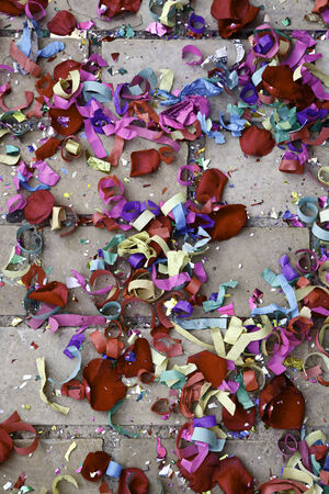 Confetti Wedding soil with rice and colors, celebration photo