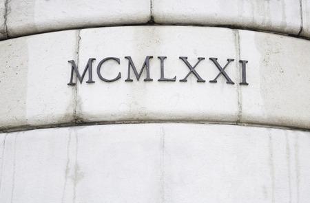 Roman numerals in historic building architecture