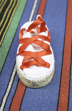 navarre: Child shoes parties san fermin, Navarre Stock Photo