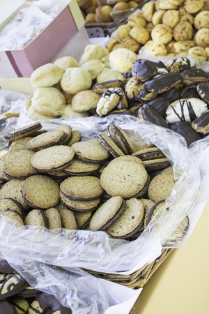 artisanal: Artisanal chocolate cookies, food and sale